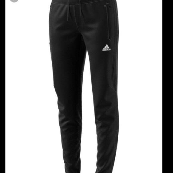 Adidas track pants all black